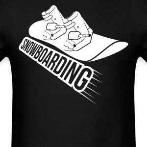 Boots And Snowboard Snowboarding - Men's T-Shirt