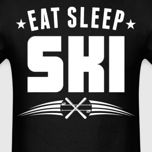 Eat Sleep Ski Funny Skiing - Men's T-Shirt
