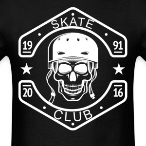 Skate Club Skateboarding Skull - Men's T-Shirt