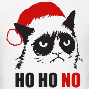 Grumpy Urly christmas cat - Men's T-Shirt