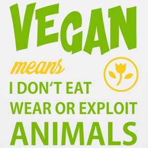 WHAT VEGAN MEANS Sportswear - Men's Premium Tank