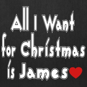 ↷♥All I want for Christmas is James Tote♥↶ - Tote Bag