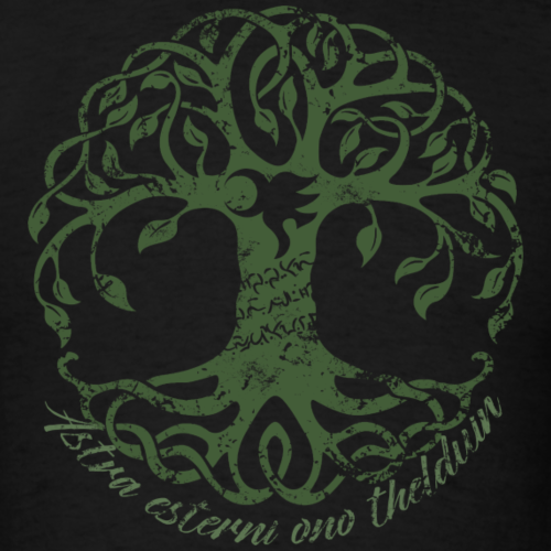Tree with yawe & font