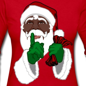 African Santa Clause Shirts Women's Black Santa Sh - Women's Long Sleeve Jersey T-Shirt