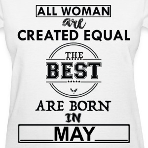 THE BEST ARE BORN IN MAY T-Shirts - Women's T-Shirt