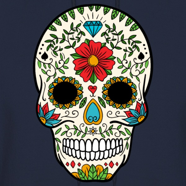 Sugar Skull - Day of the Dead #8 Hoodies - Men's Hoodie
