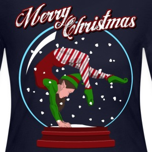 Snow Globe Gymnast Elf Long Sleeve Shirts - Women's Long Sleeve Jersey T-Shirt