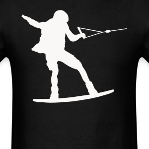 Wakeboarder Silhouette Wakeboarding - Men's T-Shirt