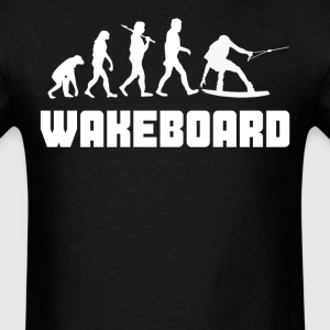 Wakeboarder Evolution Funny Wakeboarding - Men's T-Shirt