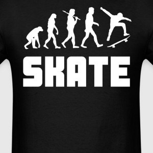 Skateboarder Evolution Funny Skateboarding - Men's T-Shirt