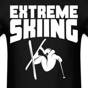 Extreme Skiing Skier - Men's T-Shirt