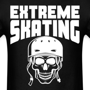 Extreme Skating Skateboarding Skull - Men's T-Shirt