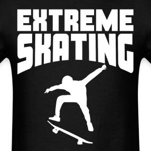 Extreme Skating Skateboarder Silhouette - Men's T-Shirt
