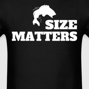Size Matters Fishing Funny Fishing - Men's T-Shirt