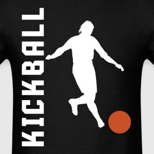 Kickball Player Silhouette Kick Ball - Men's T-Shirt