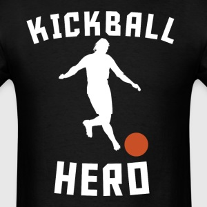 Kickball Hero Kick Ball Silhouette Funny Kickball - Men's T-Shirt