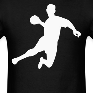 Dodgeball Player Silhouette Jumping In The Air - Men's T-Shirt
