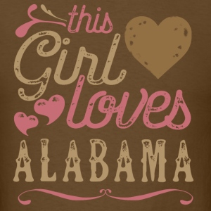 This Girl Loves Alabama T-Shirts - Men's T-Shirt