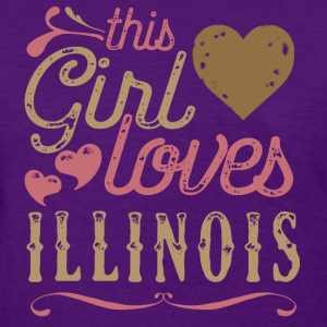This Girl Loves Illinois T-Shirts - Women's T-Shirt