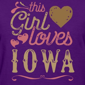 This Girl Loves Iowa T-Shirts - Women's T-Shirt