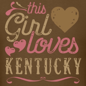 This Girl Loves Kentucky T-Shirts - Men's T-Shirt