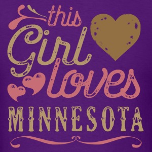 This Girl Loves Minnesota T-Shirts - Men's T-Shirt