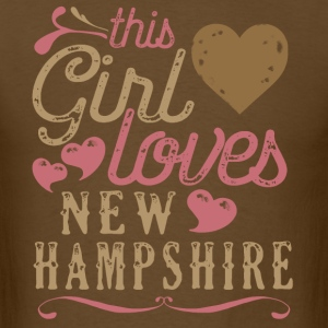 This Girl Loves New Hampshire T-Shirts - Men's T-Shirt