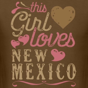 This Girl Loves New Mexico T-Shirts - Men's T-Shirt