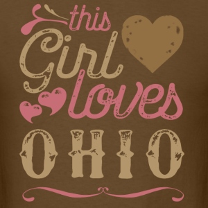 This Girl Loves Ohio T-Shirts - Men's T-Shirt