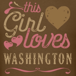 This Girl Loves Washington T-Shirts - Men's T-Shirt