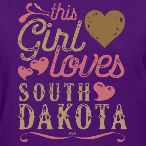 This Girl Loves South Dakota T-Shirts - Women's T-Shirt