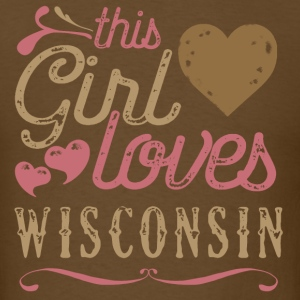 This Girl Loves Wisconsin T-Shirts - Men's T-Shirt