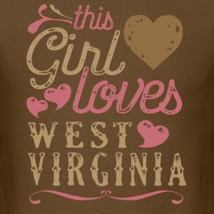 This Girl Loves West Virgina T-Shirts - Men's T-Shirt