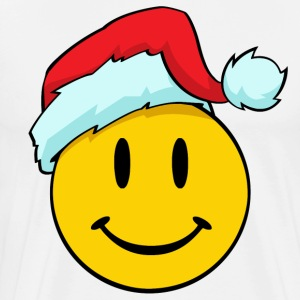Cute Christmas Smiley Emoticon Smiling Face Santa  - Men's Premium T-Shirt