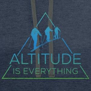 Altitude is everything + Sleeve Snow Addict - Contrast Hoodie