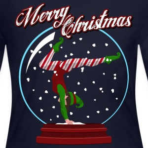 Snow Globe Elf Long Sleeve Shirts - Women's Long Sleeve Jersey T-Shirt
