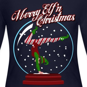Merry Elf'n Gymnast Long Sleeve Shirts - Women's Long Sleeve Jersey T-Shirt