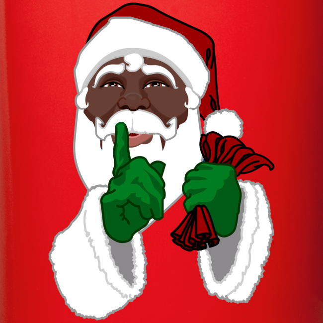 African Santa Cups Black Santa Christmas Mugs