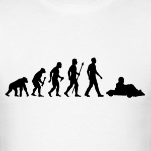 Evolution Of Man and Go Kart - Men's T-Shirt