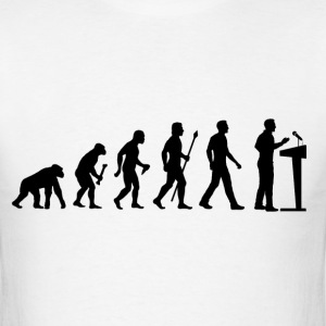 Evolution Of Debating - Men's T-Shirt