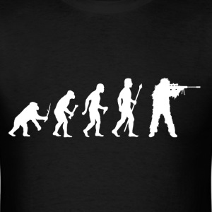 Evolution Of Man and Sniper - Men's T-Shirt