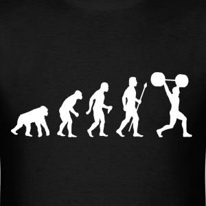 Evolution Of Weightlifting - Men's T-Shirt
