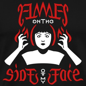 Flames on the Sides of my Face - Men's Premium T-Shirt