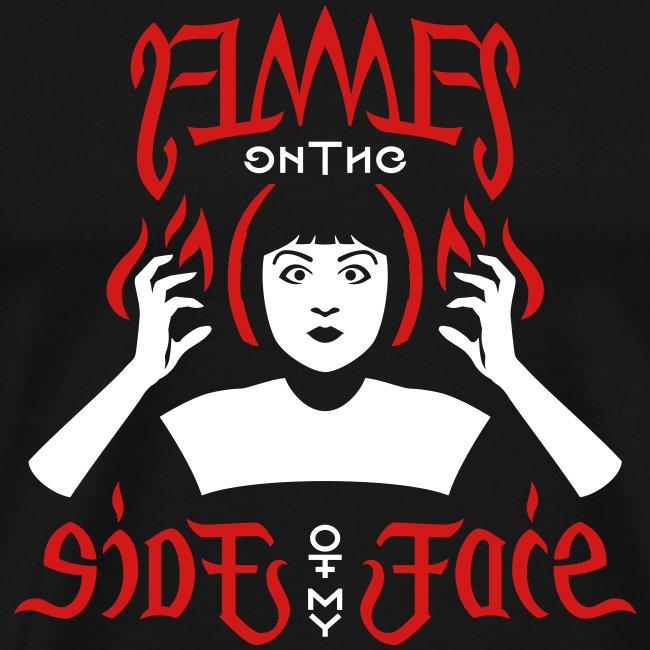 Flames Face premium T-shirt