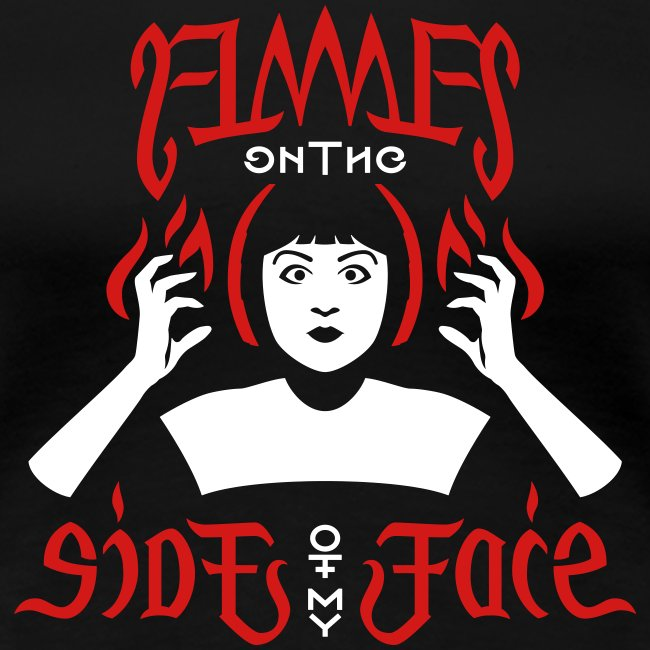 Flames Face premium women's T-shirt
