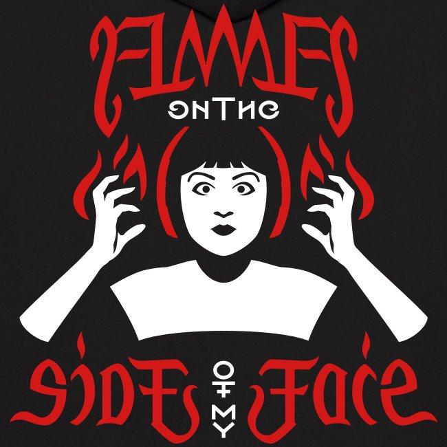 Flames Face men's Hoodie