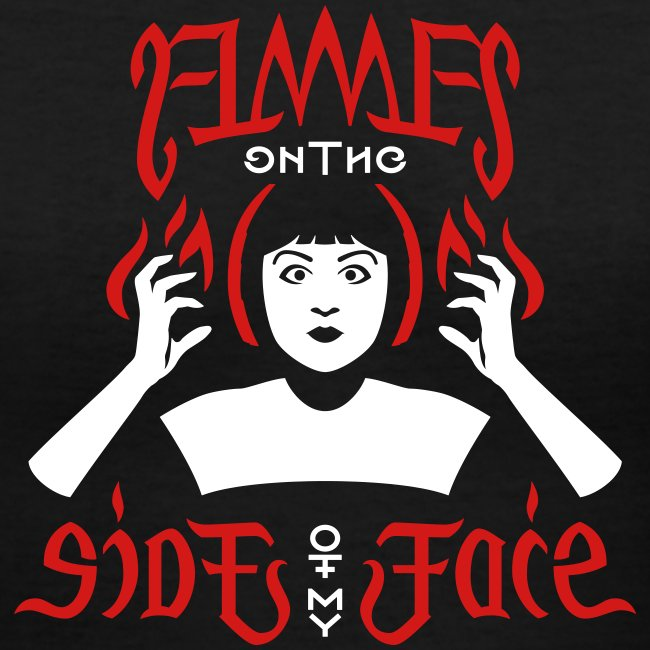 Flames Face women's V-neck