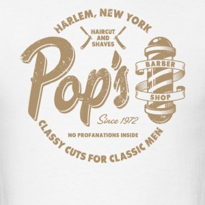 Pop's Barber (aged look) - Men's T-Shirt