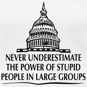 TRUMP - Power of Stupid People in Large Groups T-Shirts - Women's Premium T-Shirt