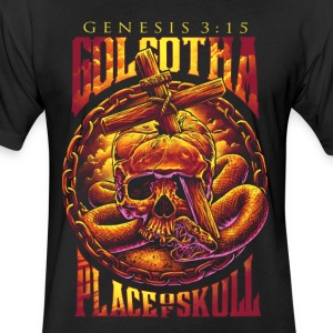 Golgotha - Fitted Cotton/Poly T-Shirt by Next Level